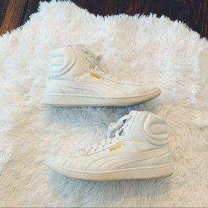 Puma White Mids High Top Shoes